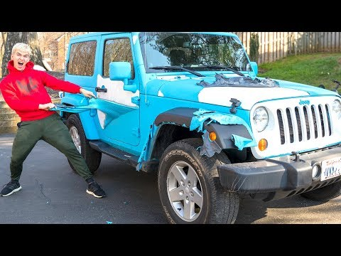 DESTROYED HER CAR PRANK!! (GONE WRONG)