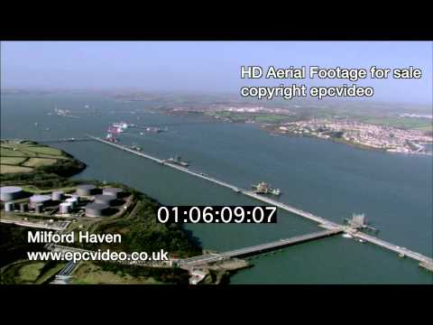 Milford Haven jetty aerial footage