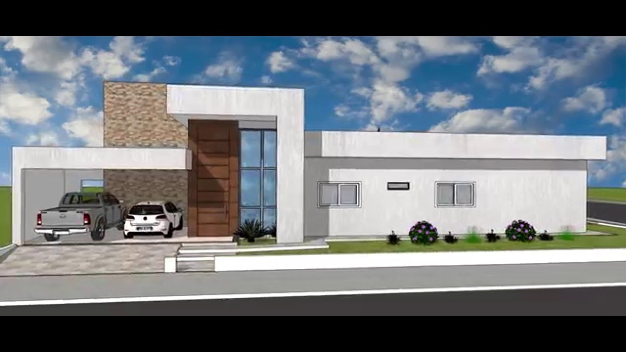 Desenho projeto sketchup casa 32 youtube for Casa moderna autocad