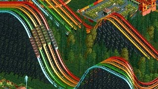 RollerCoaster Tycoon 2 - X5 Rainbow RollerCoaster - Giant Park