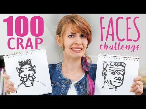 Czy narysuję 100 beznadziejnych twarzy? 🤓 100 CRAP FACES CHALLENGE