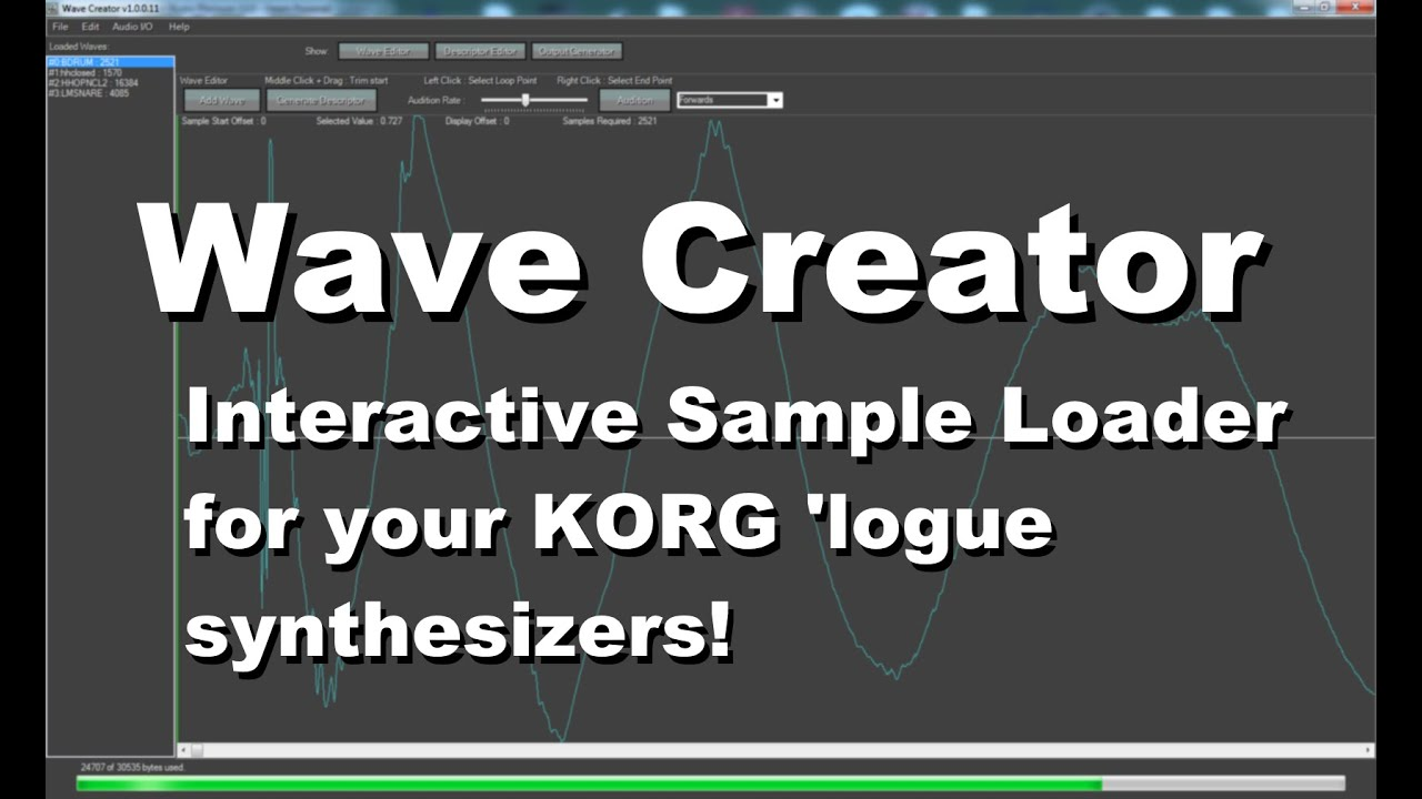 MATRIXSYNTH: Wave Creator - An Interactive Sample Loader for