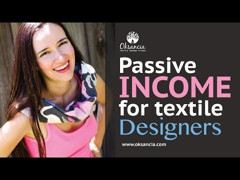 How to make passive income as a textile designer and surface pattern designer