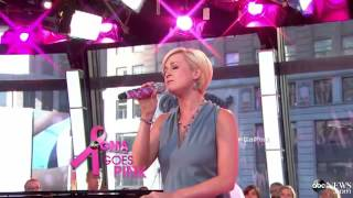 Kellie Pickler Breaks Down in Tears Performing on GMA for Breast Cancer Awareness