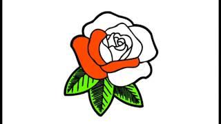 как раскрасить розу урок для детей