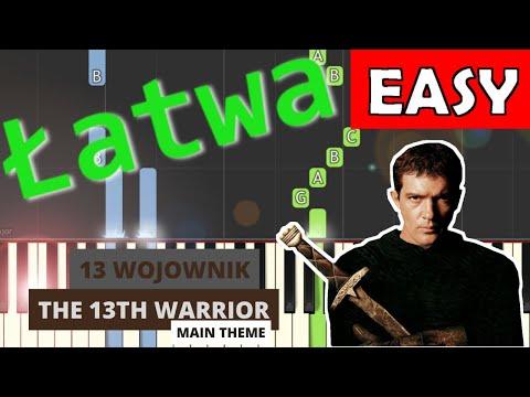 🎹 Trzynasty wojownik - motyw główny (The 13th Warrior) - Piano Tutorial (łatwa wersja) 🎹
