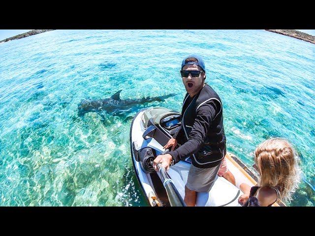 I GOT A BRAND NEW JET SKI Sea Doo Fish Pro 2019 Review | Hammerhead Shark & Ship Wreck - Ep 63