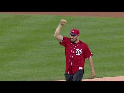 Ovi Throws First Pitch At Nats Game