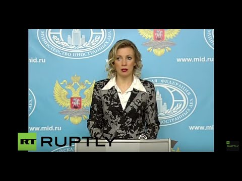 LIVE: Russian FM spokesperson Zakharova holds press briefing in Moscow - English Audio