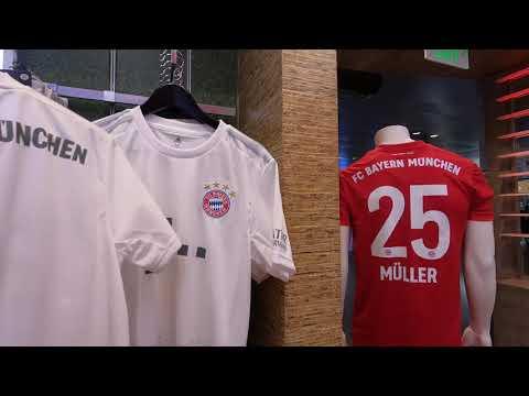 FC Bayern Munich Fan-Shop   Hamad International airport 2019   4k