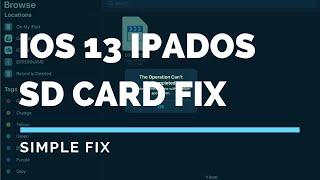 iOS 13 iPadOS SD card transfer fix