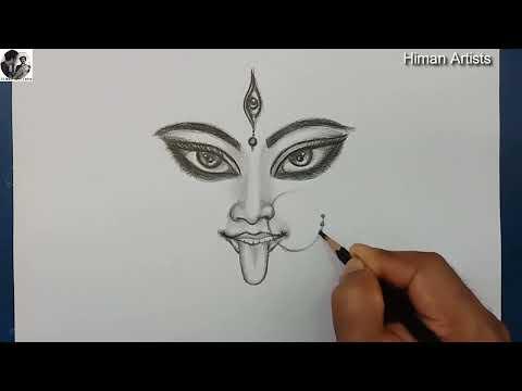 Sketch Devi Kali How To Draw Kali Devi Youtube