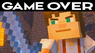 ALL GAME OVER SCENES - Minecraft: Story Mode Season 2 Episode 3: Jailhouse Block