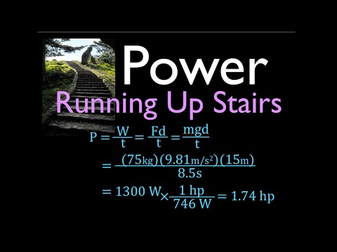 Physics, Power, Calculate Power Output When Running Up Stairs