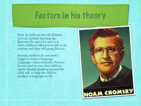 noam chomskys theories Email a copy of linguists abandon noam chomsky's 'universal grammar' theory to a friend.