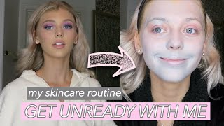 GET UNREADY WITH ME + skincare routine | Loren Gray