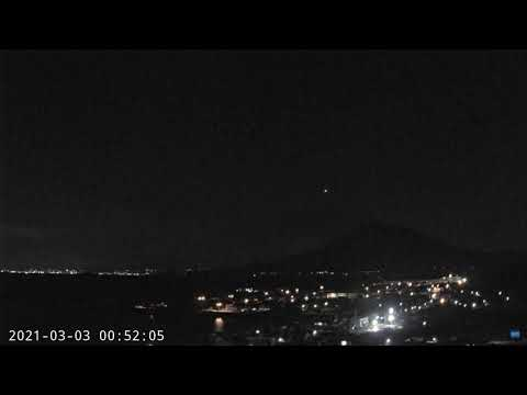 March 3, 2021, ~ Fireball ~ Sakurajima Volcano, Japan ~ 00:52:05 JST