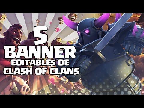 5 BANNER EDITABLES DE CLASH OF CLANS! - PHOTOSHOP