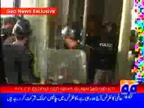 Islamabad Police  Attack on GEO TV Office