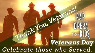 Veterans Day Song for Kids with Veterans Day Reading Comprehension Activities