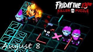 Friday the 13th Killer Puzzle Daily Death August 8 2020 Walkthrough