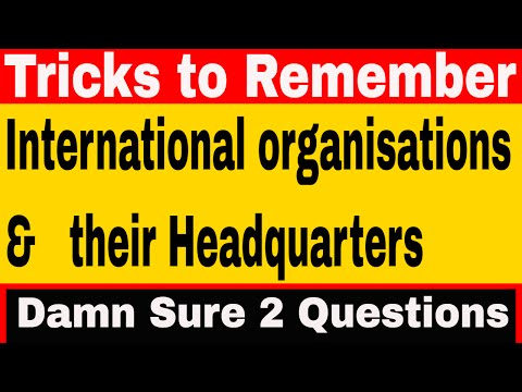 International Organisation's Headquarters |GK Tricks
