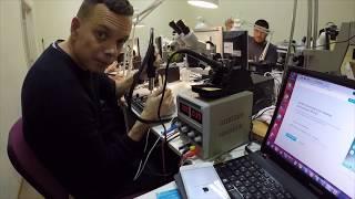 Как проходят занятия по ремонту плат iPhone в IQ center. Обучение пайки BGA и диагностике.