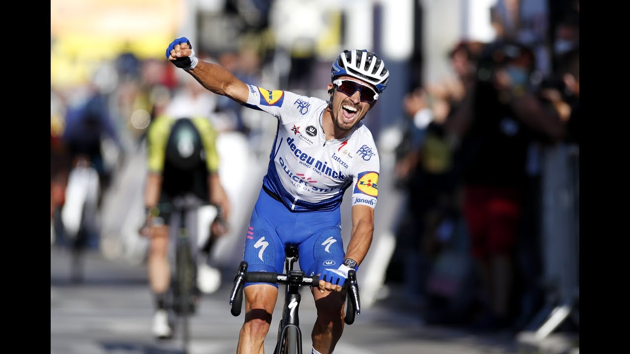 Tour de France Stage 2 highlights: Alaphilippe powers to victory and yellow jersey in Nice