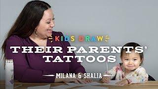 Milana Draws a Tattoo for Her Mom | Kids Draw | Cut