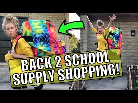 Back To School Supply Shopping ft World's BIGGEST BACKPACK! - Follow Me Around!