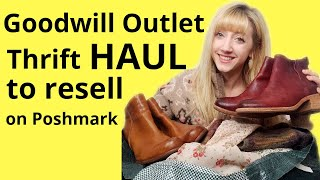 Large Goodwill Outlet Bins Thrift Haul to Resell on Poshmark | Buying Vintage & Modern Clothing