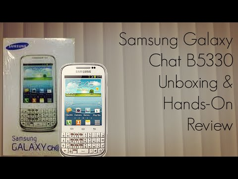 Samsung Galaxy Chat B5330 Unboxing & Hands-On Review - Android QWERTY Phone