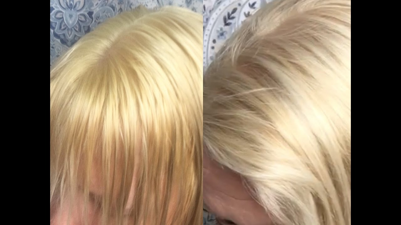 How To Tone Brassy Blonde Hair Using Wella T18 Youtube