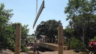 Golf Coast Construction, Inc. Sets 60' Beam For Timber Bridge In Apollo Beach, Fl