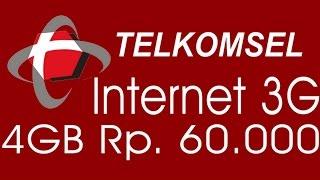 Cara Daftar Paket Internet Telkomsel 3GB 60RB