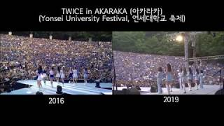 TWICE CHEER UP in AKARAKA 2016 & 2019