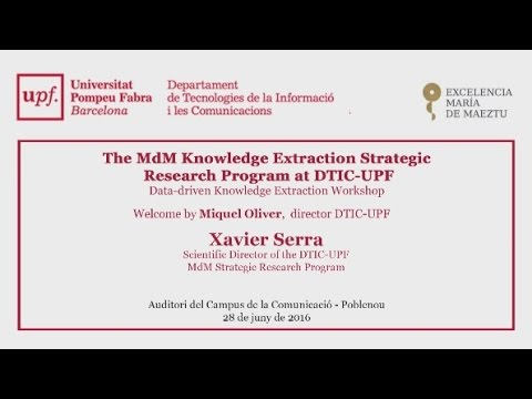 The MdM Knowledge Extraction Strategic Research Program at DTIC-UPF