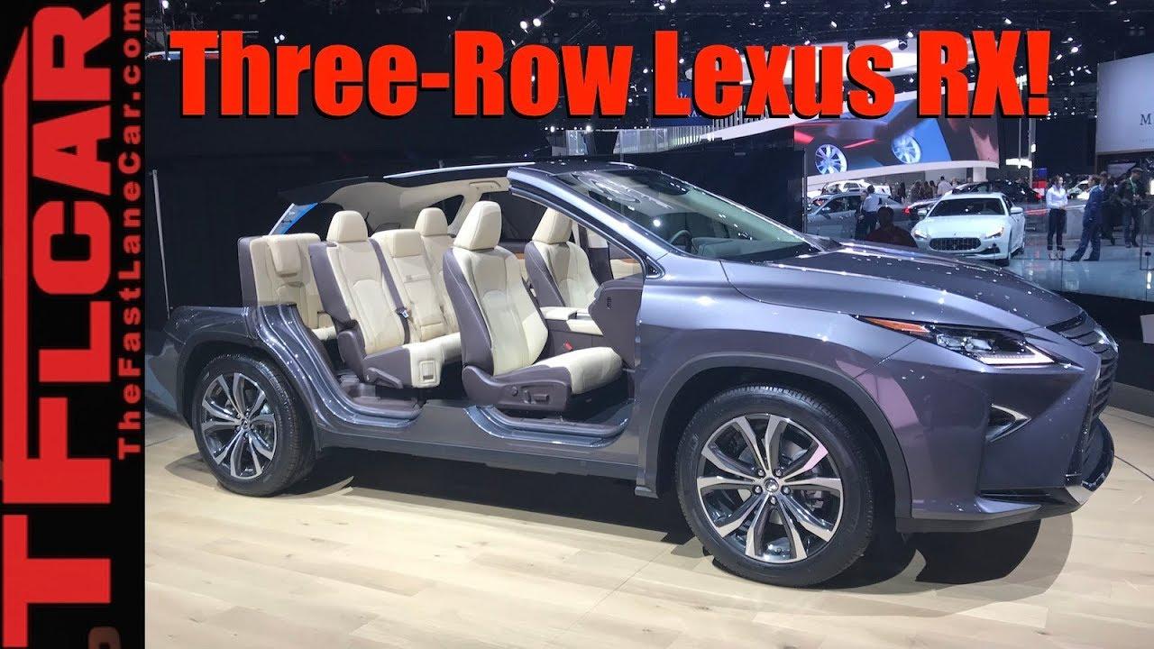 Stretched Lexus RX! 2018 Lexus RX350L Three-Row Crossover