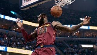 LeBron James Triple Double! Tyreke Evans Injury, Cavs vs Grizzlies 2017-18 Season
