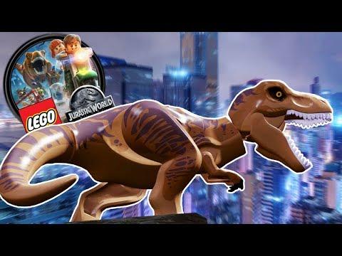 Lego Jurassic World  LEGO TREX ATTACKS LEGO CITY!  Lego Jurassic World HD Gameplay  Part 10