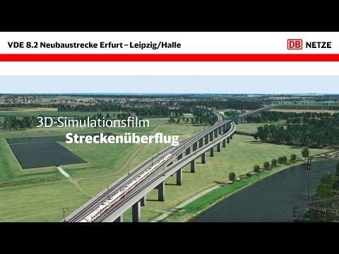 VDE 8: 3D-Simulation Streckenüberflug von Erfurt nach Leipzig