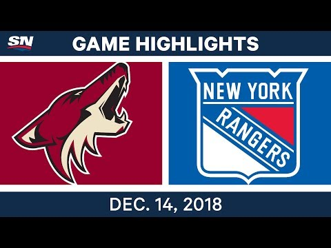 NHL Highlights   Coyotes vs. Rangers - Dec 14, 2018