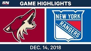 NHL Highlights | Coyotes vs. Rangers - Dec 14, 2018