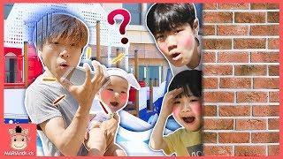 핸드폰이 사라졌어요! 키즈카페 놀이터 숨바꼭질 놀이 ♡ Playground Hide and Kids Pretend Play with Toys | 말이야와아이들 MariAndKids