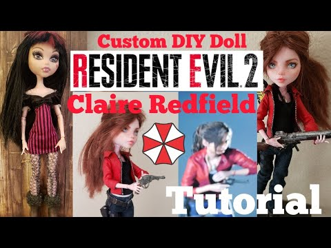 Resident Evil 2 Remake: Claire Redfield Custom Doll Repaint Tutorial