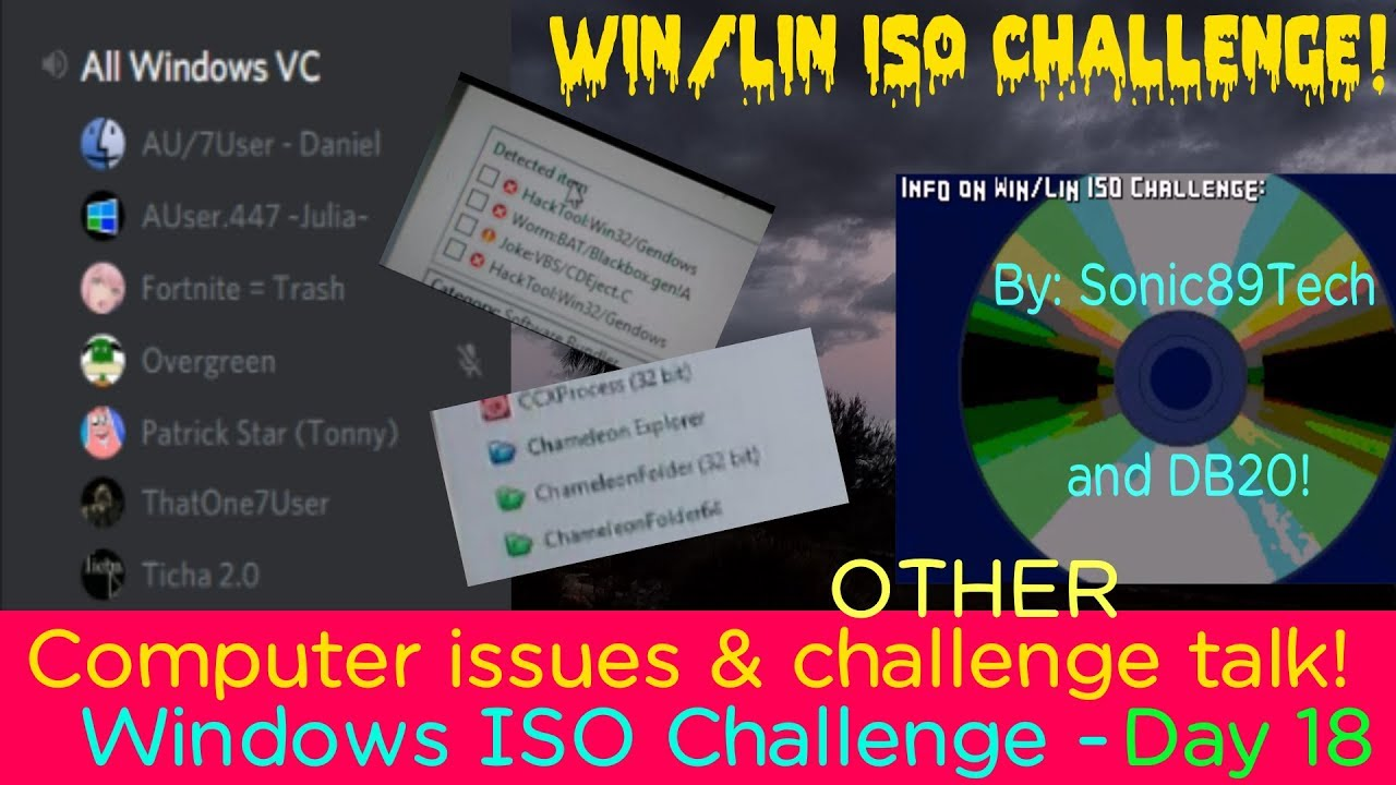 Computer issues & challenge talk! - Day 18