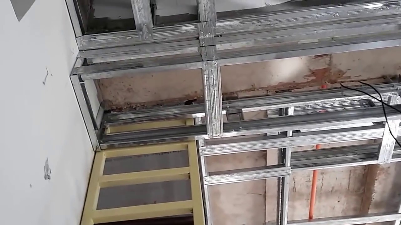Steel Stud Ceiling Framing Pinoy Panday Youtube