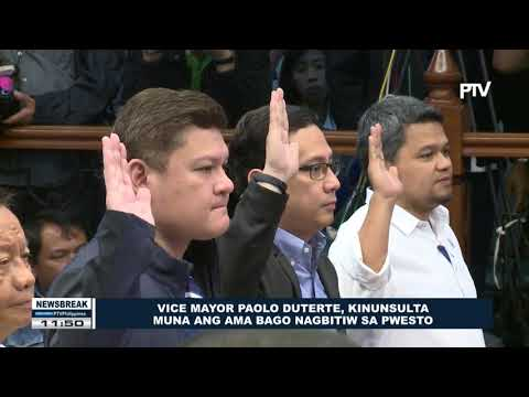 NEWS BREAK: Vice Mayor Paolo Duterte, kinunsulta muna ang ama bago nagbitiw sa pwesto