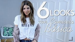 6 LOOKS CON CAMISETA BÁSICA | Trendy Taste