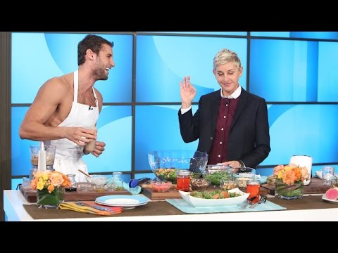 Naked Peruvian Chef Franco Noriega Heats Things Up with Ellen thumbnail